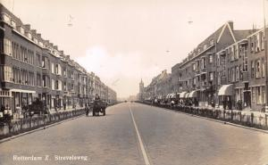 Vintage Real Photo Postcard Rotterdam Strevelsweg Holland Netherlands #R
