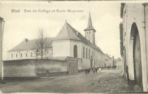 belgium, VISÉ VISE, Rue du College, Ecole Moyenne (1910s)