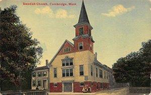 Cambridge MA Swedish Church Postcard