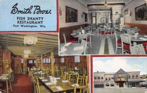 Smith Brothers Fish Shanty Restaurant, Port Washington, WI, Vintage Postcard