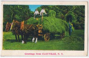 Clayville NY - Greetings - Haying