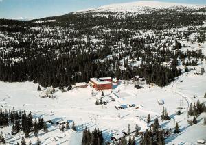 Norway Norge Nrodseter Hoyfjellshotell Aerial view Winter