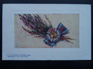Scotland WI THE MOUNTAIN HEATHER TWINE MEMORIES O' AULD LANG SYNE c1908 Postcard