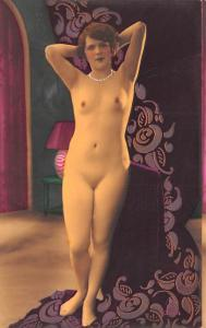 French Tinted Nude Postcard Unused non postcard backing
