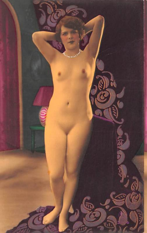 French Tinted Nude Postcard