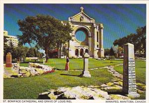 Canada St Boniface Cathedral and Grave of Louis Riel Winnipeg Manitoba