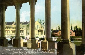 WA - Seattle. Alaska-Yukon-Pacific Exposition, 1909. Colonnade of Agriculture...