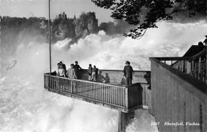 Switzerland Rheinfall Fischez Schifflaende Schaffhausen