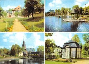 Bad Lauchstaedt Am Schlossgraben, Teichlaube, Parkteich, Kirche, Amtshaus