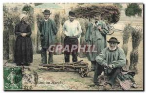 Old Postcard Folklore Peasants march to Auvergne TOP