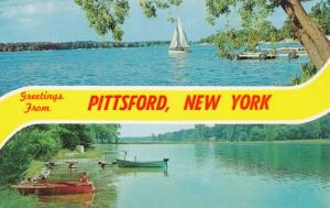 Greetings from Pittsford NY, New York - Sailboat - Fishing - Rowboat