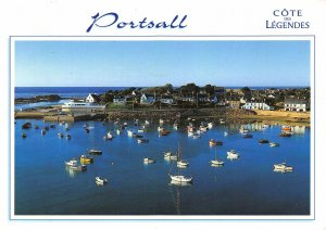 France Portsall Le Port The Harbour Boats Panorama Postcard
