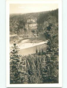 Pre-1949 rppc SCENERY ALONG ALASKA HIGHWAY Province Of British Columbia BC W1064