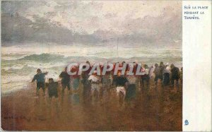 Old Postcard On the Beach for La Tempete