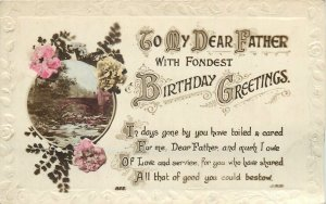 Father Birthday best wishes greetings Postcard