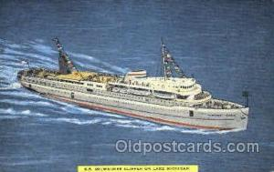S.S. Milwaukee Clipper, Lake Michigan USA Ship Shps, Ocean Liners,  Postcard ...
