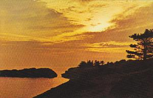 Canada Sunset On Vancouver Island British Columbia