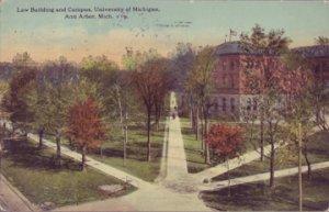 ANN ARBOR - LAW BUILDING & CAMPUS of UNIVERSITY OF MICHIGAN ... 1912