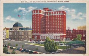 City Hall And Biltmore Hotel Providence Rhode Island 1943