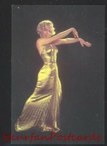 MARILYN MONROE MOVIE STAR GOLD DRESS POSTCARD