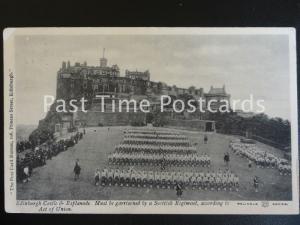 c1911, Edinburgh Castle & Esplanade, Scottish Regiment according to Act of Union