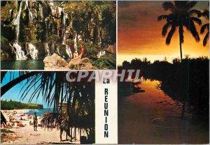 Modern Postcard Reunion Island Basin Egrets