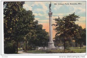 Library Park, KENOSHA, Wisconsin, PU-1912