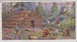 Wills Vintage Cigarette Card 1914 Overseas Dominions Canada No 11 Lumberman's...