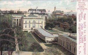 White House Showing Executive Offices Washington DC 1906