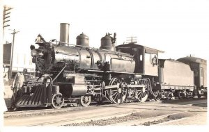 Brookhaven Mississippi Train Railroad Real Photo Postcard AA7291