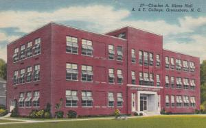 GREENSBORO, North Carolina, 30-40s: Charles A. Hines Hall, A. & T. College