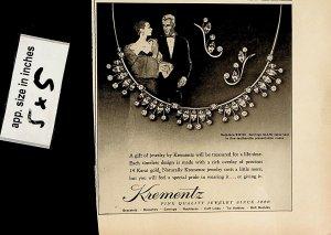 1957 Krementz Jewelry Vintage Print Ad 6859
