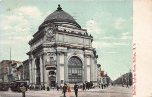 Buffalo Savings Bank, Buffalo, New York, Early Postcard, Used in 1909