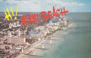 MIAMI BEACH, Florida, PU-1986; Hotel Row, Oceanfront