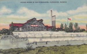 Florida Clewiston Sugar House In The Everglades Curteich
