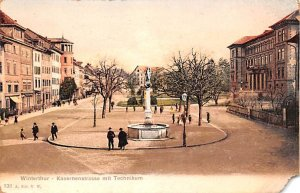 Winterthur Kasernenstrasse mit Technikum Switzerland 1905