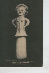 Postal 008516: Haniwa Woman, Unglazed Terra Cotta, Japan, Seattle art Museum