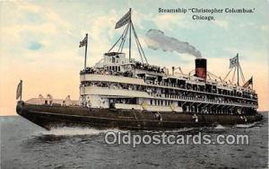 Steamship Christopher Columbus Chicago Ship Postcard Post Card Chicago Postca...