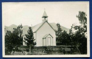 Carcross Yukon Territory Canada St Saviors Church Real Photo Postcard