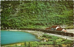 Lake Bennett BC White Pass & Yukon Railways Station Train Unused Postcard G18