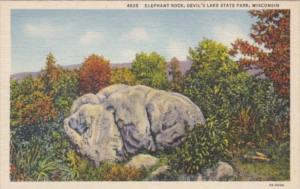 Wisconsin Devils Lake State Park Elephant Rock On East Bluff Trail Curteich