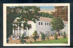 North Carolina postcard Auditorium Ridgecrest Baptist
