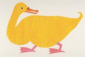 Duck in Brown Bear Brown Bear What Do You Hear Eric Carle Postcard
