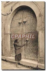 Old Postcard Scenes Algerian Porte d & # 39A Arab house