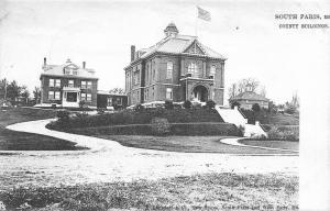 South Paris Maine~County Buildings~1905 B&W Postcard~TUCK Ser 2178