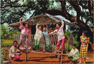 Sayaw Ed Tapew Na Bangko Dance Barangay Folk Troupe Philippines Postcard D36