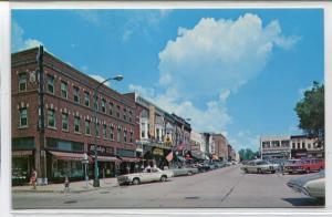 Sixteenth Avenue Street Scene Monroe Wisconsin postcard
