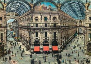 Postcard Italy Milan inside of Vittorio Emanuele Gallery