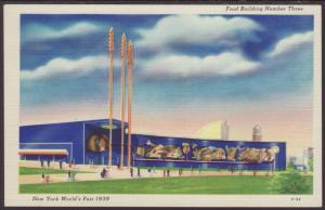 Food Building # 3,New York World's Fair 1939 Postcard