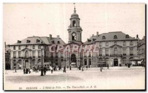 Old Postcard Rennes The City Hall The Town Hall